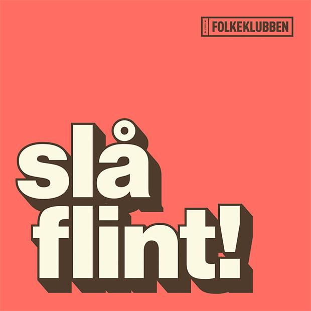 LP fra Folkeklubben med titlen Slå Flint
