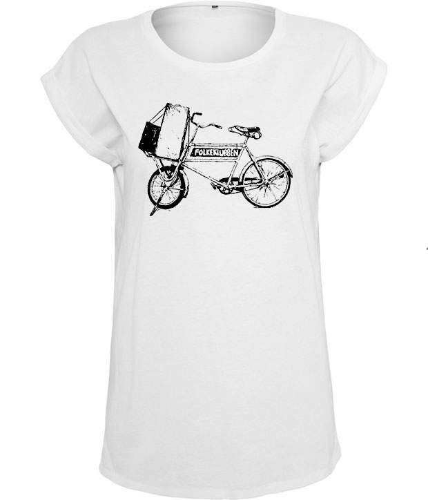 Hvis Folkeklubben t-shirt med sort cykellogo på brystet