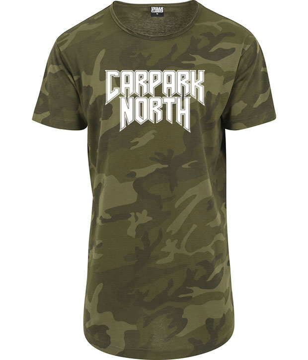 Camouflage t-shirt med hvidt Carpark North tryk