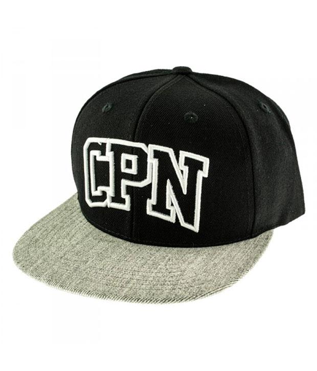 Sort Carpark North cap med grå skygge og broderet logo