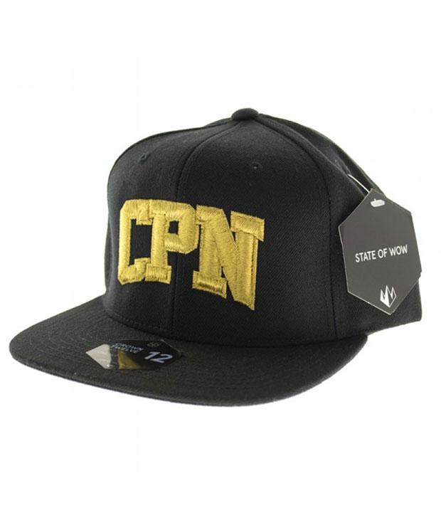 Sort Carpark North cap med gult CPN tryk